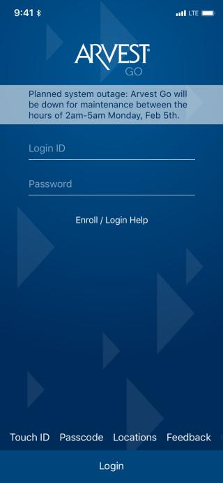 Update_Quick Actions Widget | Arvest Go iOS | Zeplin Scene