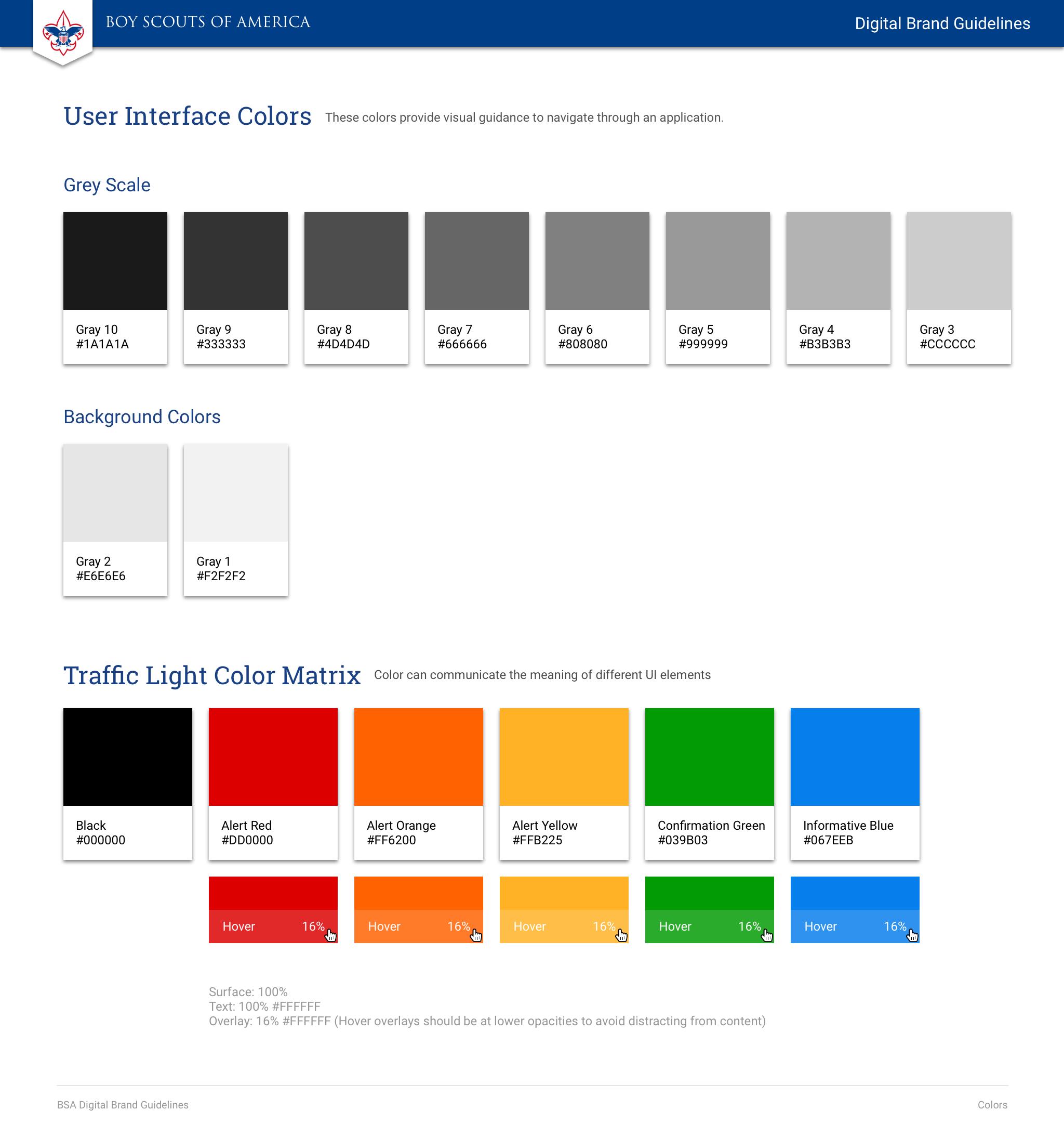 BSA Digital Brand Guidelines | Zeplin Scene