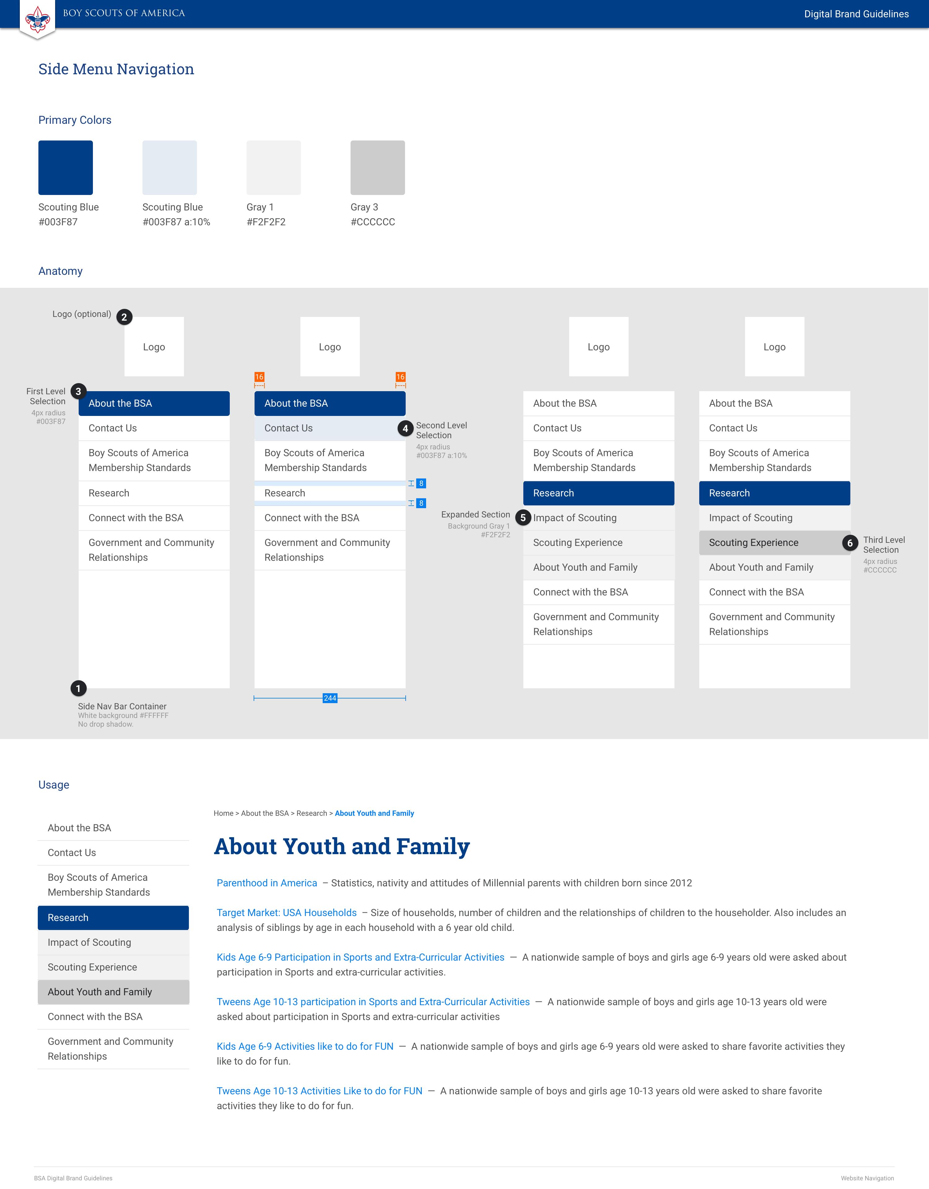 BSA Digital Brand Guidelines   Zeplin Scene