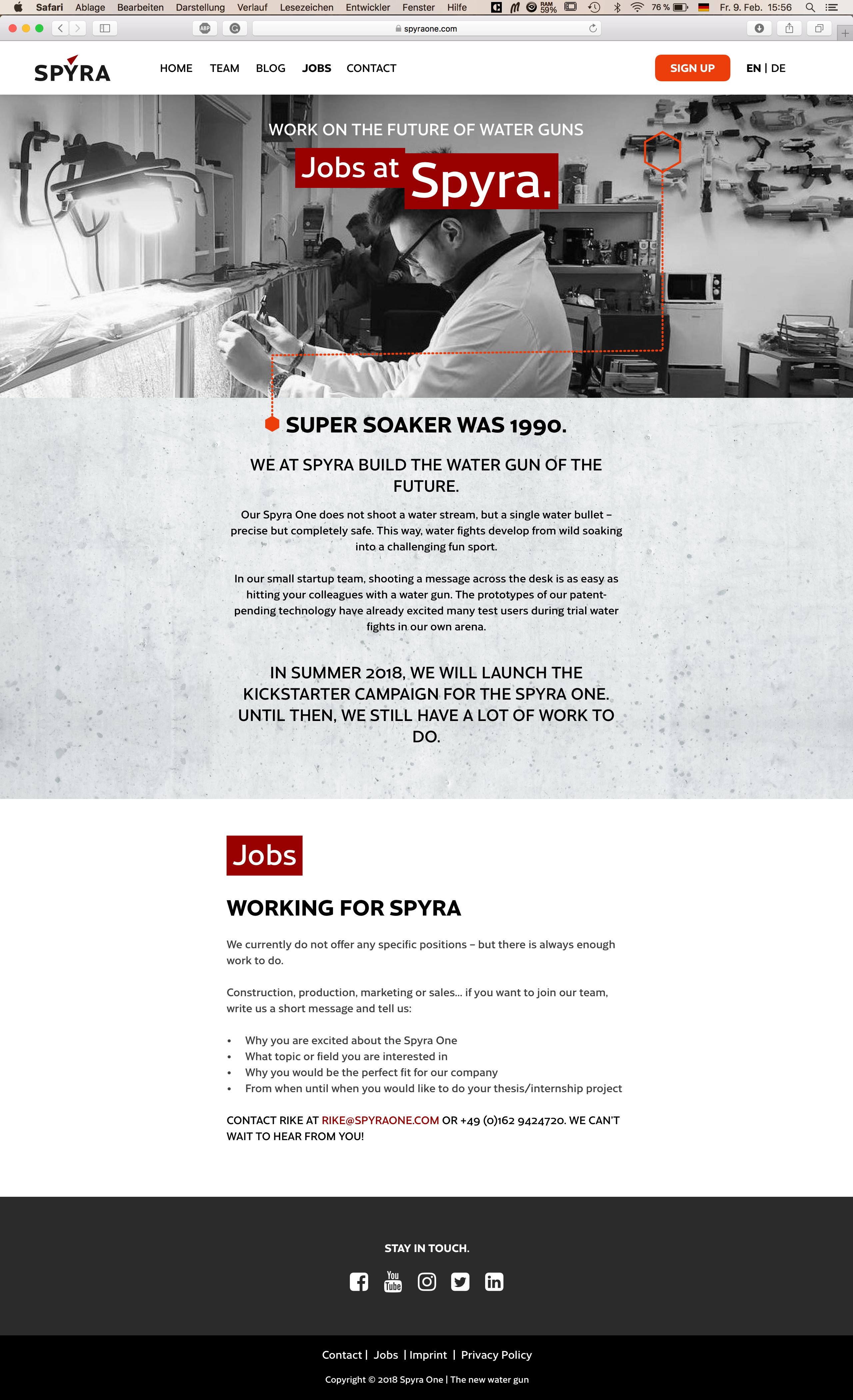 SPYRA-Website-JOBS Desktop | SPYRA Website | Zeplin Scene
